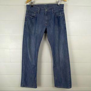 Levi's 514 33 medium wash slim straight jeans